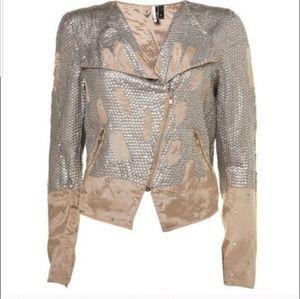 NWT Topshop Sequin Moto Jacket/Blazer